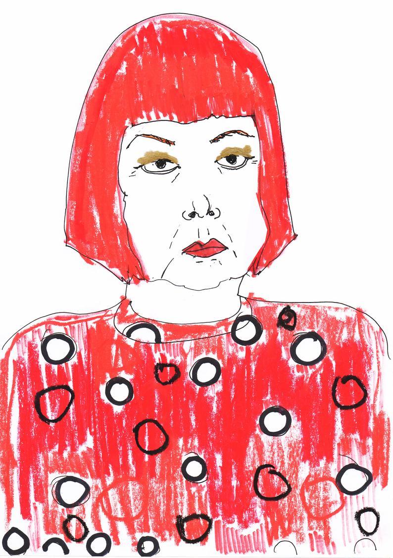 794x1127 Yayoi Kusama Drawing Special Edition Print Portrait