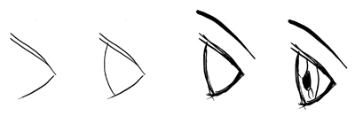 400x139 How To Draw Anime Manga Eyes In Profile Side View Techniques