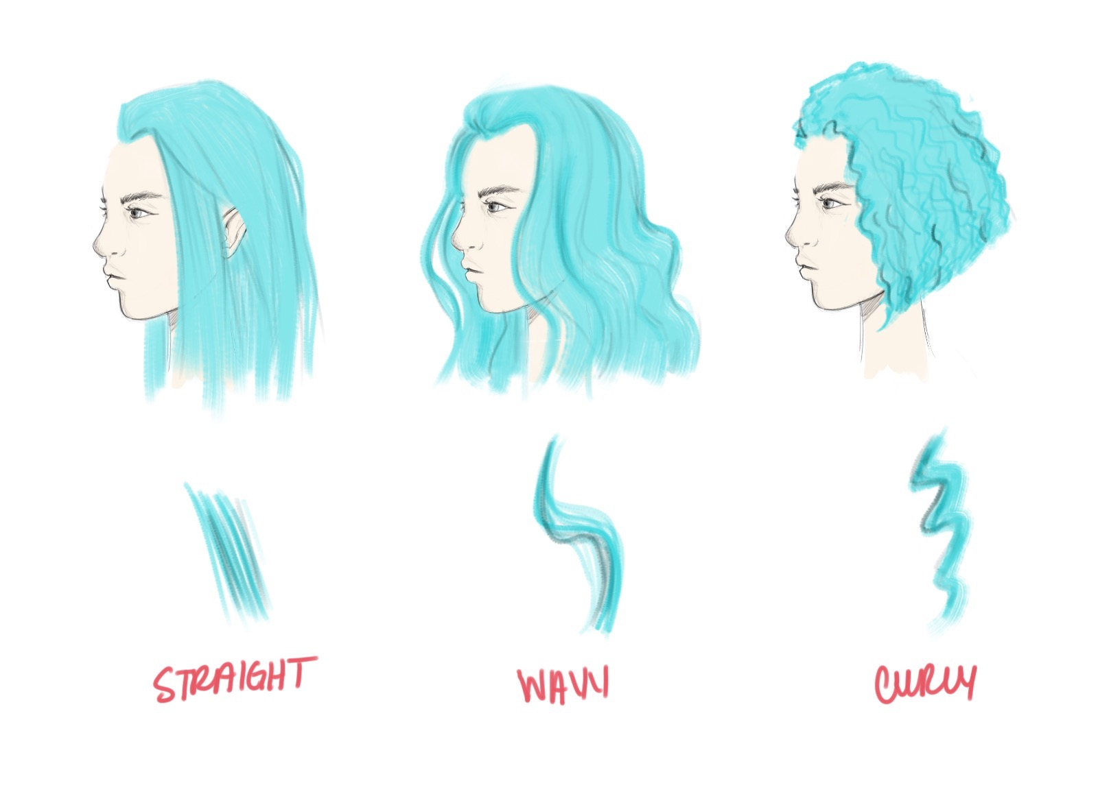 1600x1155 How To Draw Hair Tutorial Step