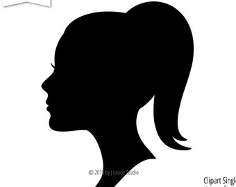 340x270 Collection Of Free Cameos Clipart Girl Side Face Download On Ui Ex