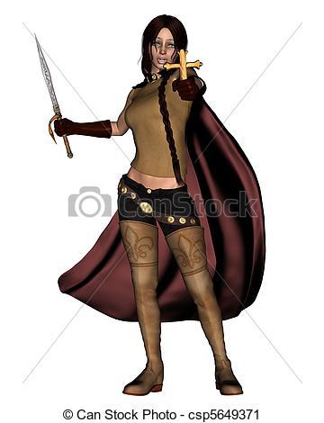 360x470 Female Vampire Hunter Female Vampire Hunter Holding A Silver