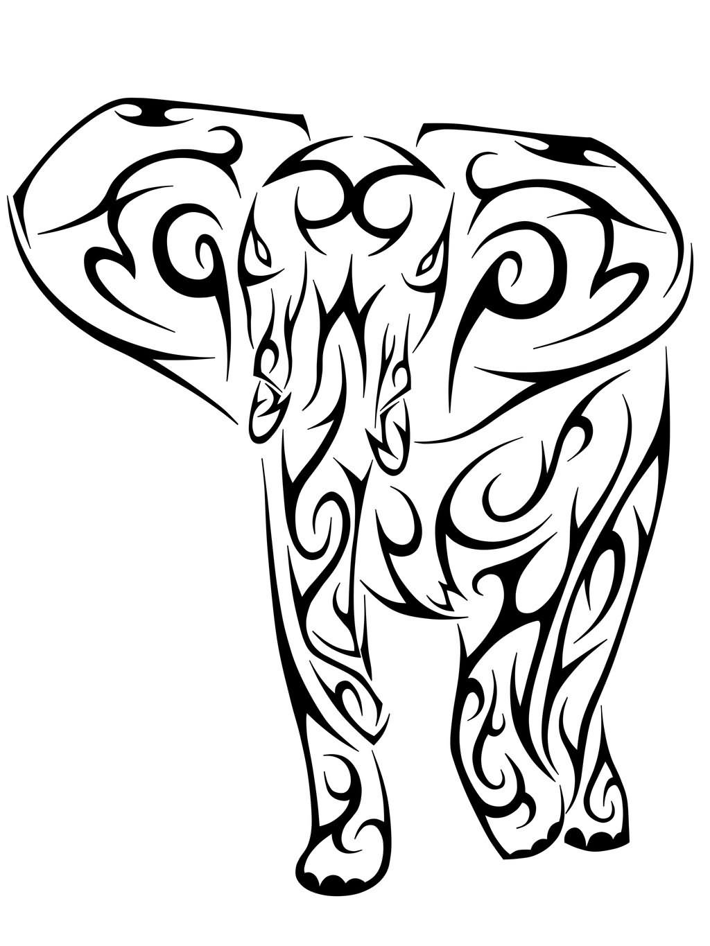 1024x1365 elephant drawing feminine for free download