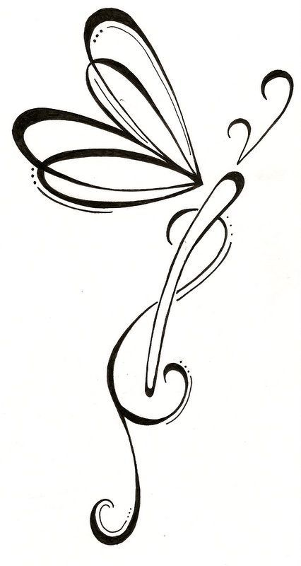 426x800 dragonfly drawing feminine for free download
