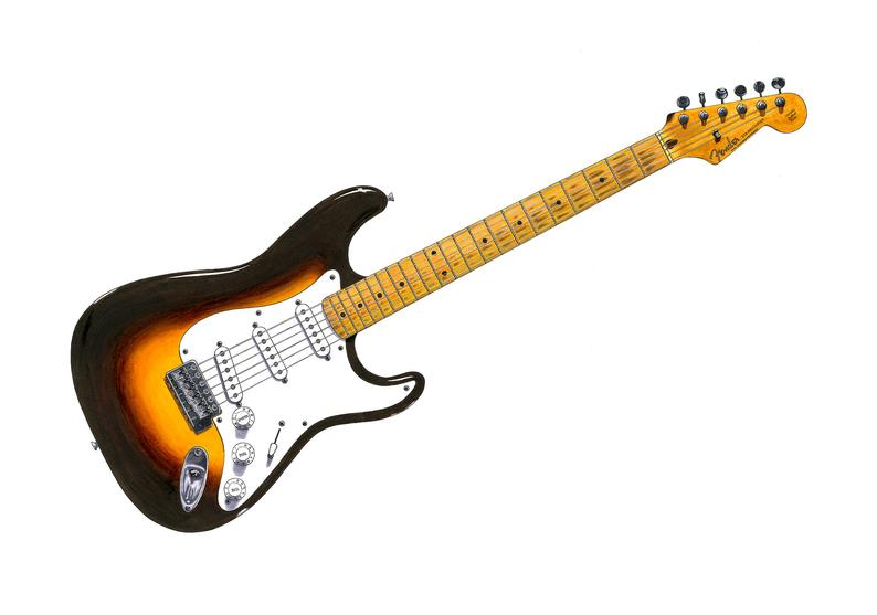 794x557 eric claptons fender stratocaster 'brownie' poster etsy
