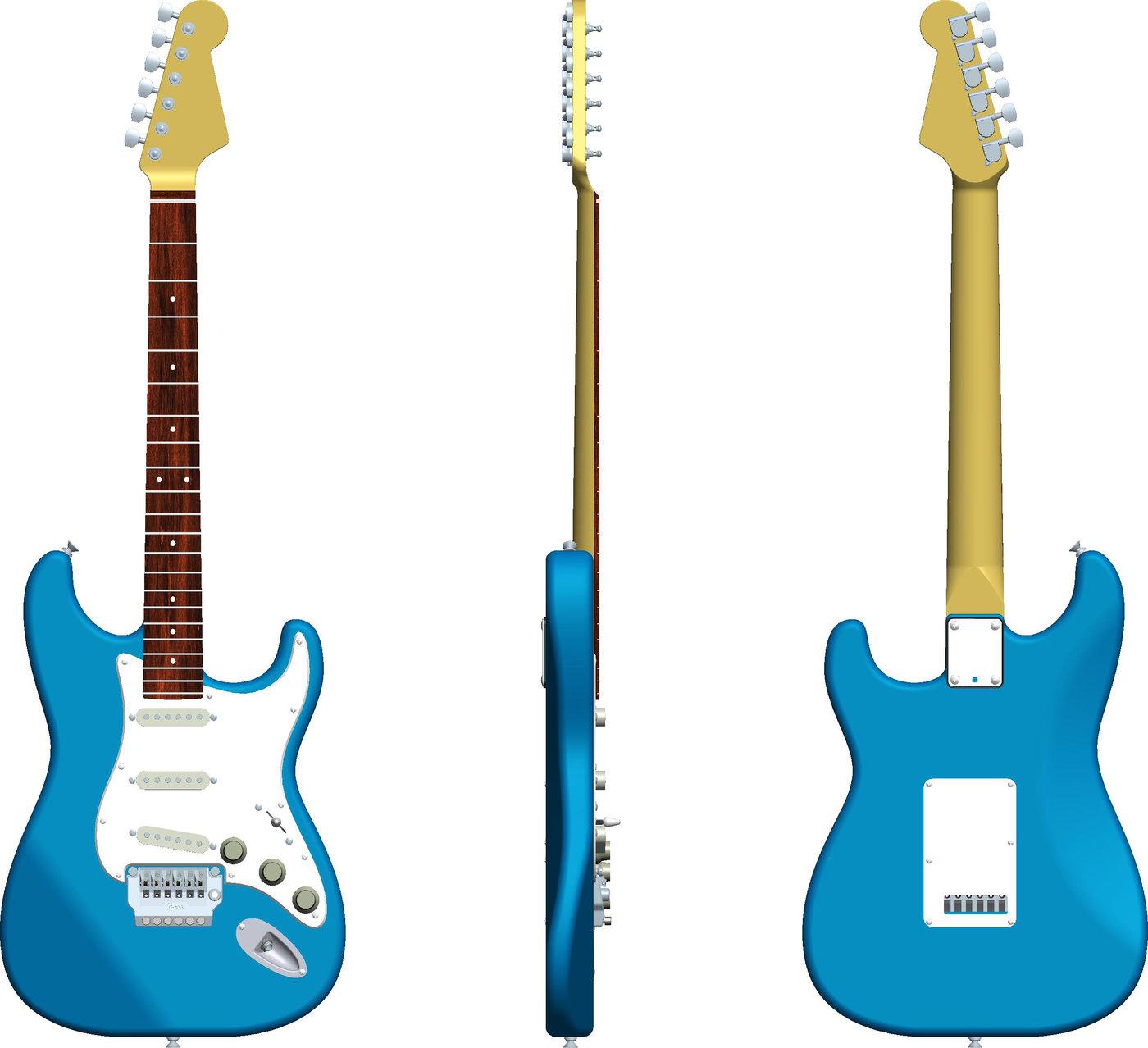 1400x1278 modeling of a fender stratocaster