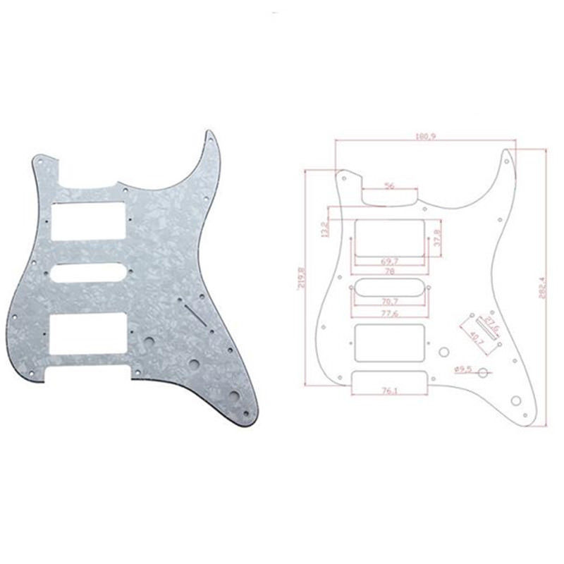800x800 guitar pickguard for fender stratocaster strat parts white pearl