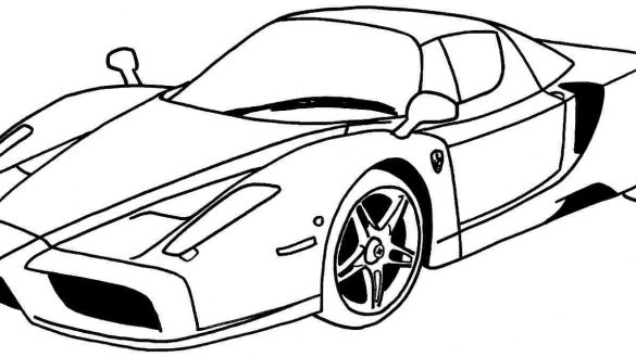 585x329 Coloring Pages Of Ferrari Inviting