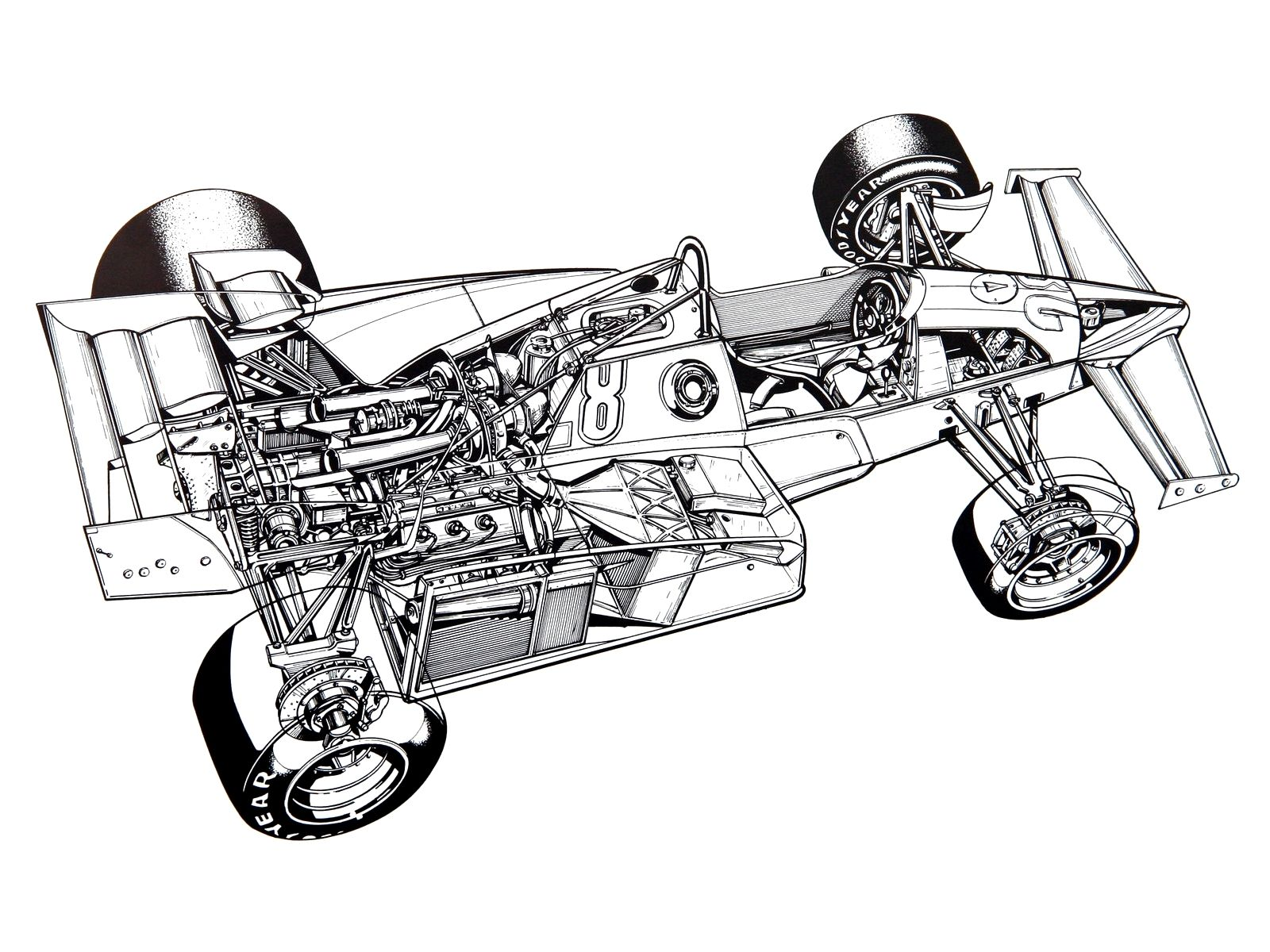 1600x1200 Ferrari Formula Cutaway Drawings The Car Build Index