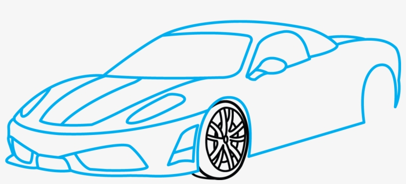 820x371 How To Draw Ferrari
