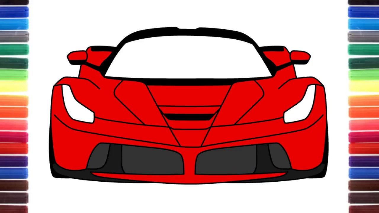 1280x720 How To Draw Ferrari Laferrari Front View Step