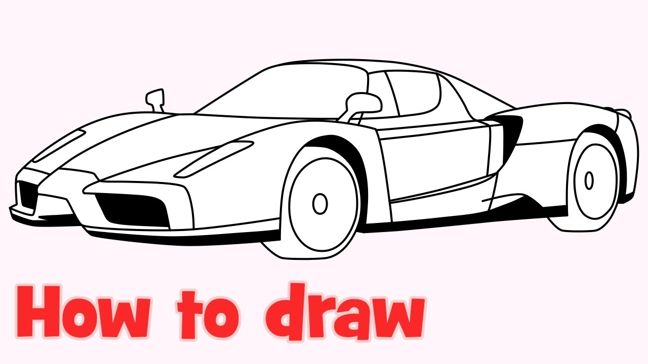 1280x720 How To Draw A Car Enzo Ferrari Step