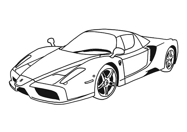 600x424 Top Speed Cars Enzo Ferrari Coloring Pages Kids Play Color