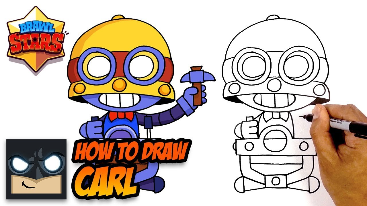 1280x720 How To Draw Brawl Stars Carl Step