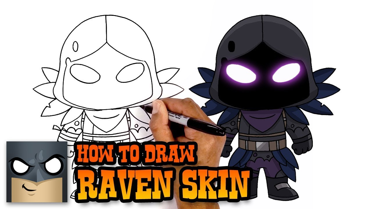 1280x720 How To Draw Fortnite Raven