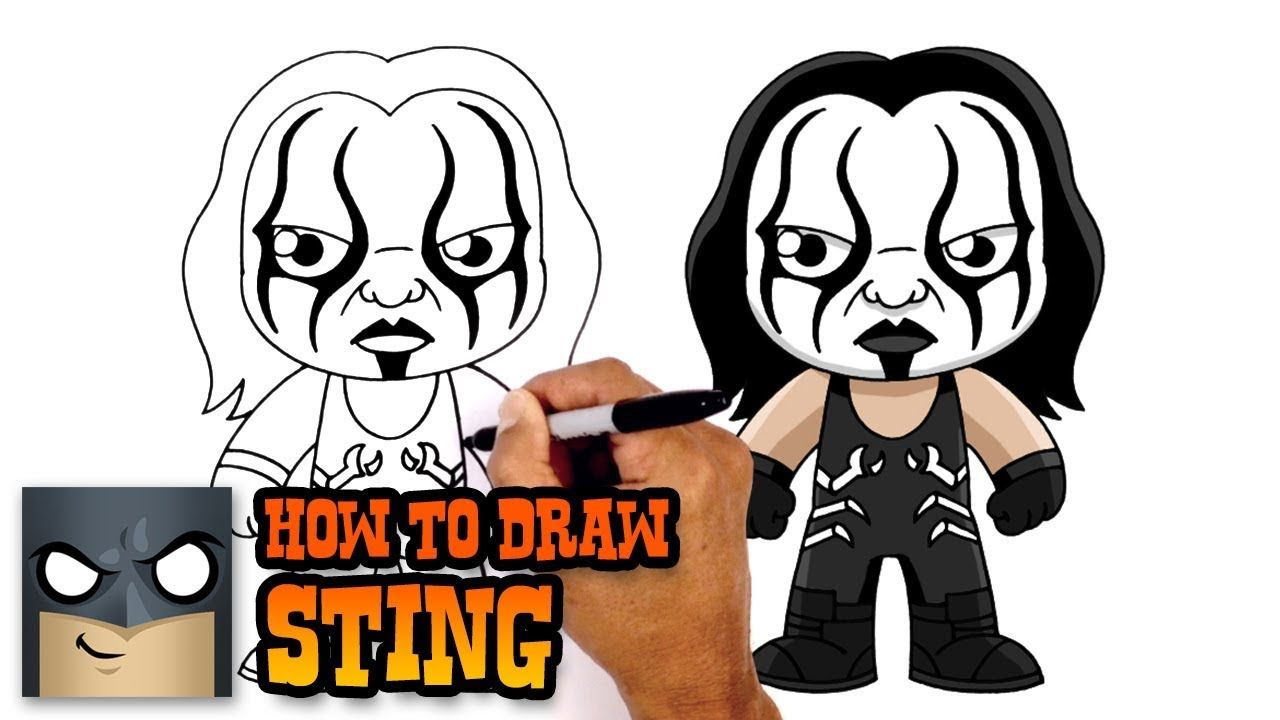 1280x720 How To Draw Sting Wwe How To Draw In Drawings, Drawing