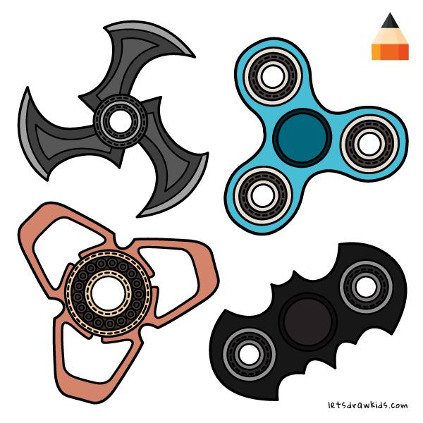 600x600 How To Draw Fidget Spinners