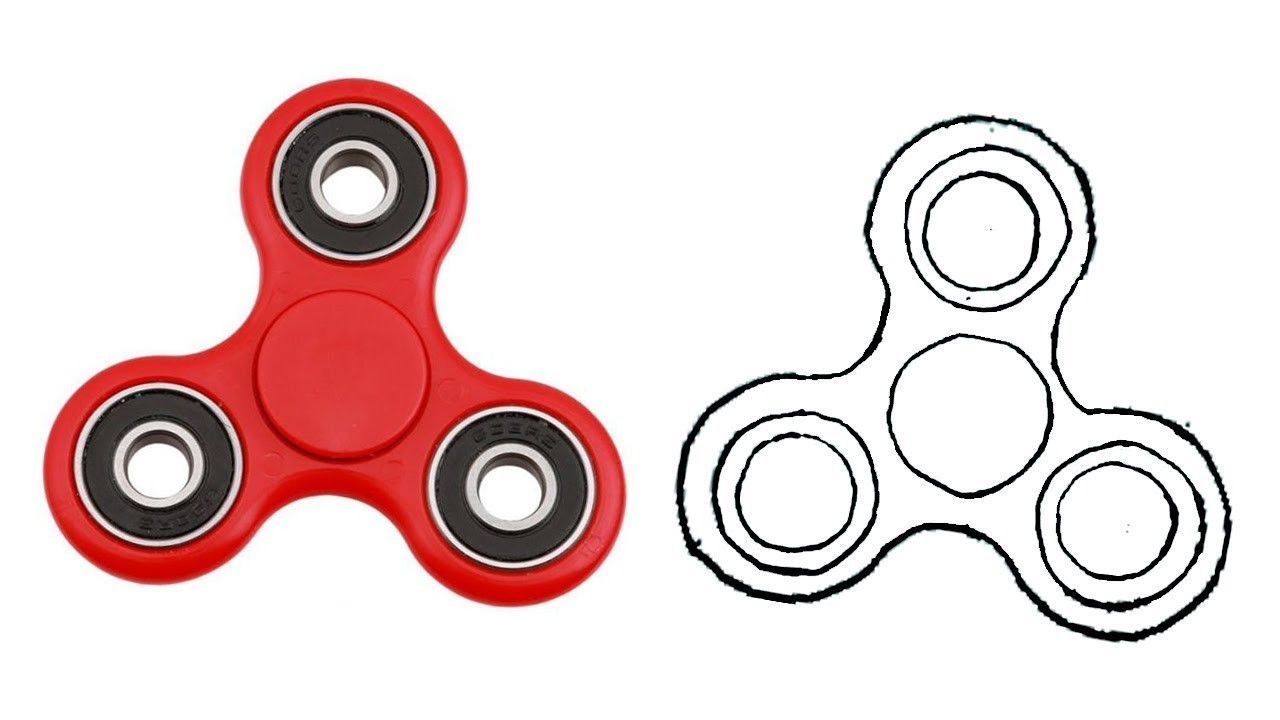 1280x720 How To Draw A Fidget Spinner Step