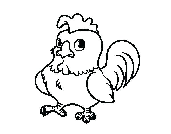 600x470 rooster coloring pages rooster coloring