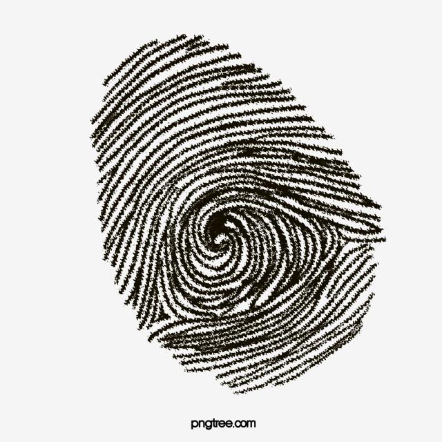640x640 Finger Print, Fingerprint, Cartoon Hand Drawing Png Image