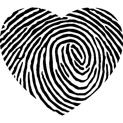512x512 Fingerprint Heart Shape Icons Free Download