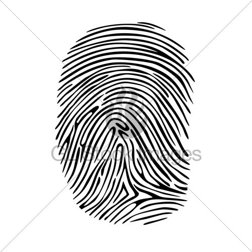 500x500 Fingerprint Gl Stock Images
