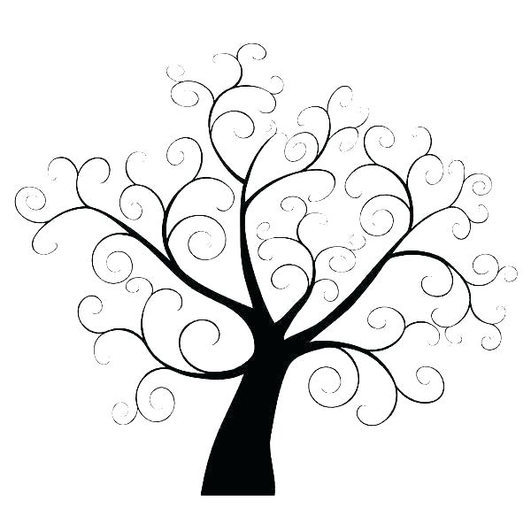 600x600 Tree No Leaves Outline Tree Free Printable Template No Leaves Bare