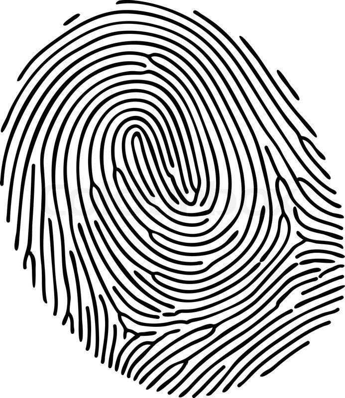 693x800 Vector Black Fingerprint On White Stock Vector Colourbox