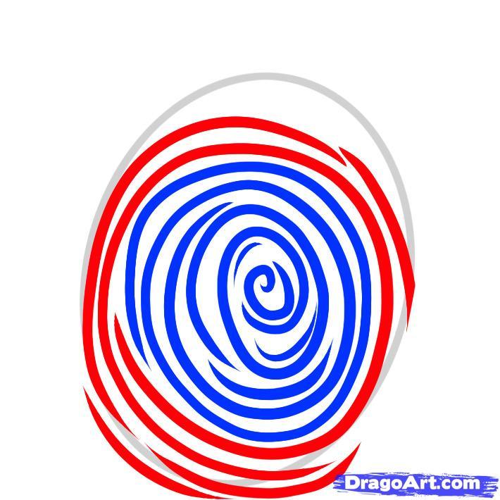 710x710 Draw A Fingerprint, Fingerprint, Step