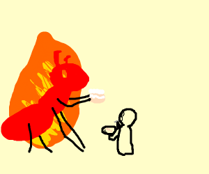 300x250 Giant Fire Ant Freaking Stealing Yo Cake