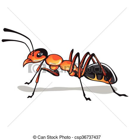 450x470 ant vector art ant vector fire ant bug illustration clip art