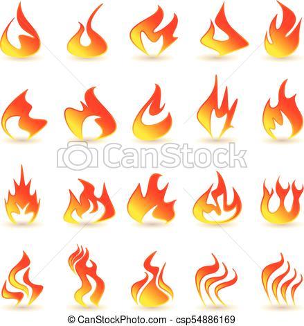 439x470 fire flame icons set fire flame icons set on a white background