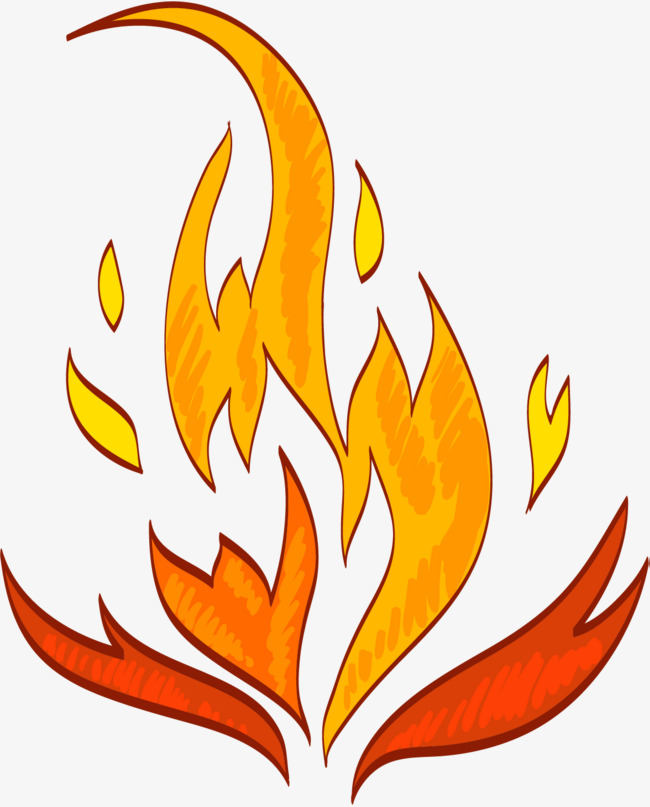 650x807 flame burning, flame combustion, burning fire, cartoon hand