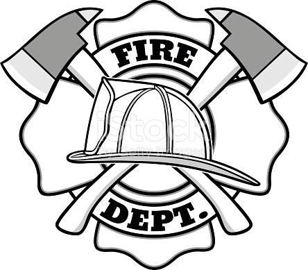 444x389 fire department, fire fighter logo, outdoor vinylsilhouette