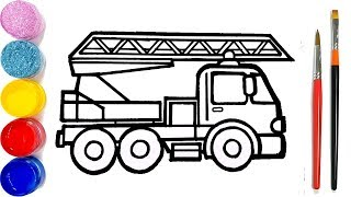 Fire Truck Drawing For Kids