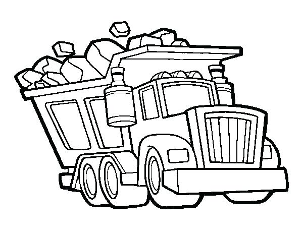 600x470 truck coloring sheet city garbage truck on dump truck coloring