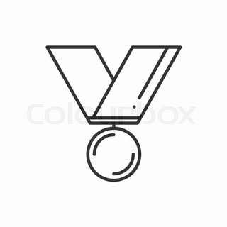 320x320 Gold Medal Award With Ribbon Winner Stock Vector Colourbox