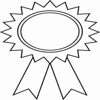 400x400 Attractive First Place Ribbon Clipart