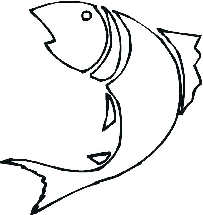 650x687 fish bowl outline fish shape template flying fish birthday party