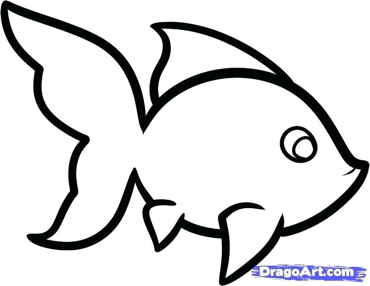 754x584 easy drawing of fish easy drawing easy fishbowl drawing