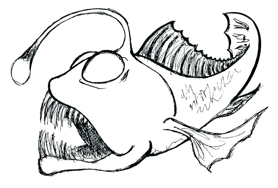 970x658 Drawing Angler Fish Coloring Pages
