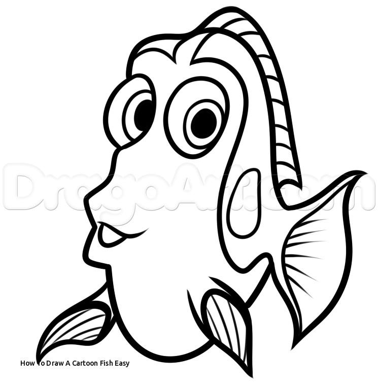 745x765 Cartoon Fish Drawings
