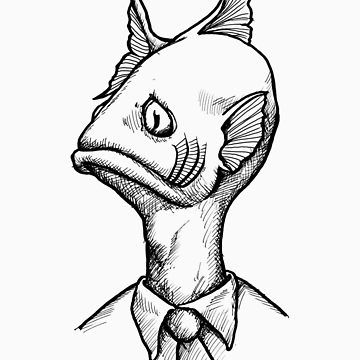 360x360 Fish Head Sticker