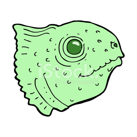 440x440 Cartoon Fish Head Stock Vector