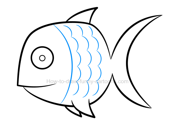 600x430 How To Draw A Fish Clip Art