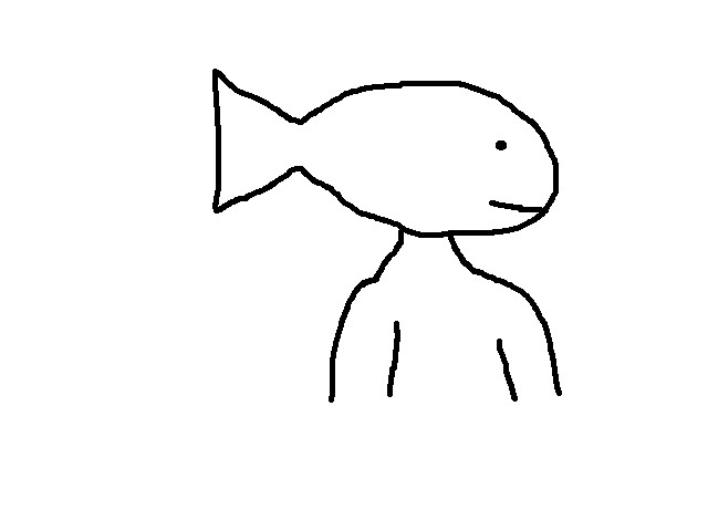 640x480 Draw A Person With A Fish As A Head