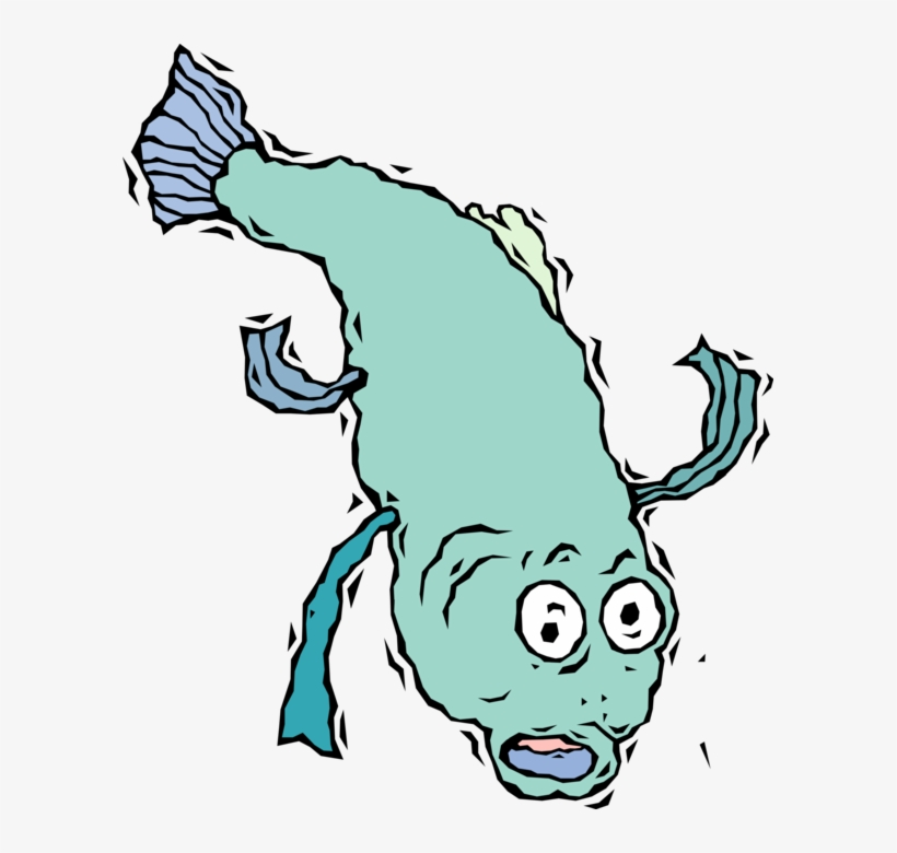 820x780 vector illustration of fish jumps out of the water