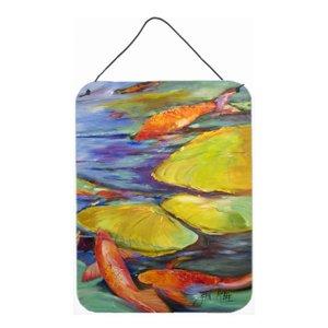 300x300 Fish, Koi In The Pond Aluminum Metal Walldoor Hanging Print