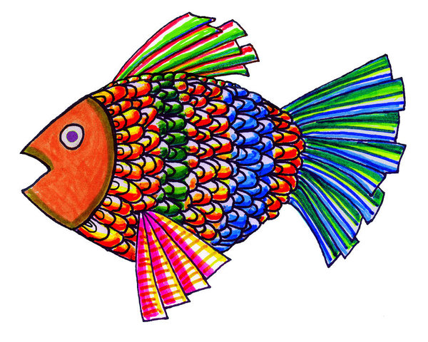 600x480 Fish Pond Drawings