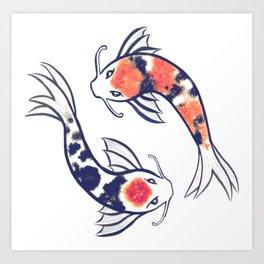 264x264 Koi Fish Art Prints