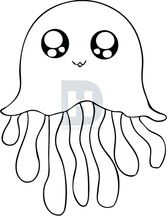 557x720 drawing of a jellyfish fish outline fish outline fish simple